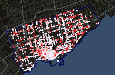 Pedestrian accident map Global Toronto TV